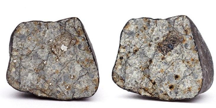 Фото распиленного челябинского метеорита (1)