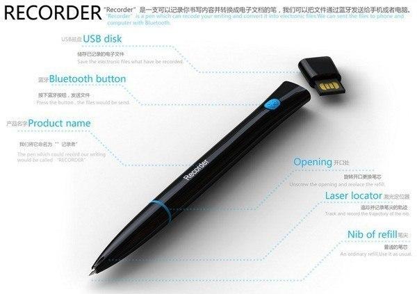 Recorder Pen ручка с функцией распознавания рукописного текста (4)
