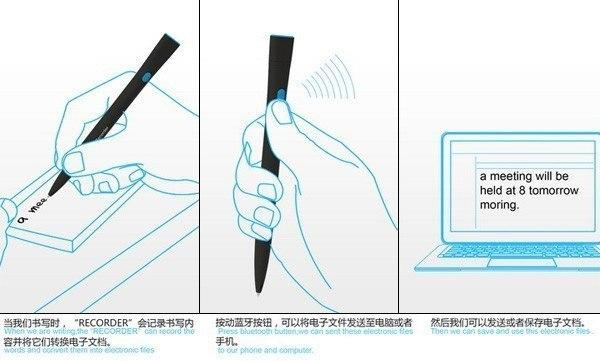 Recorder Pen ручка с функцией распознавания рукописного текста (2)