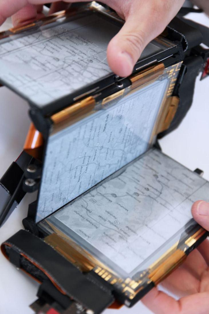 PaperFold: складной смартфон с тремя гибкими дисплеями (5)