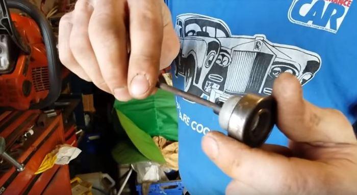 Как наточить цепь бензопилы с помощью дрели (2)